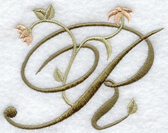 Floral Heirloom Letter R