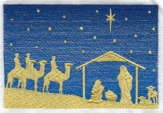 Embroidery Nativity Designs Cardstock