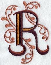 Ornate Letter R 3 Inch
