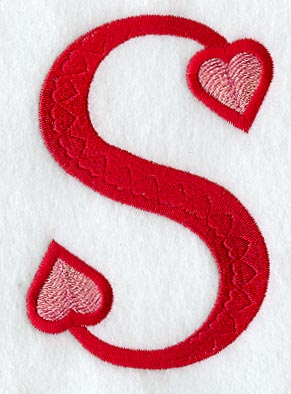 Machine embroidery designs at embroidery library embroidery library valentine letter s 5 inch altavistaventures Choice Image