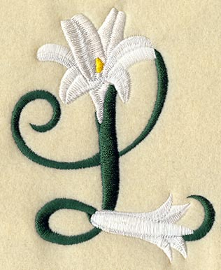 easter lily letter l 5 inch