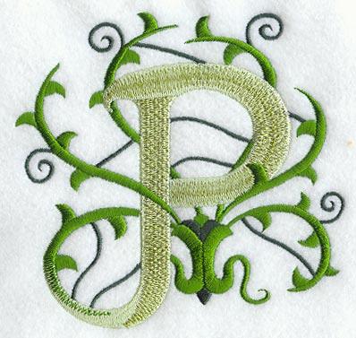 vines letter p 5 inch