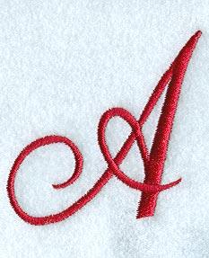 Monogram Script Letter A