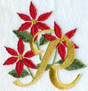 poinsettia letter r 4 inch