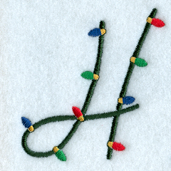 Christmas Lights Letter H 3 Inch