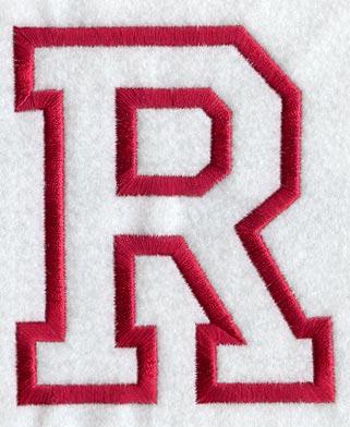 Collegiate Letter R Applique 5 Inch