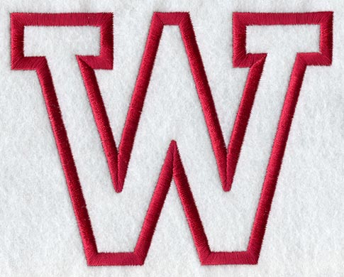 Machine embroidery designs at embroidery library embroidery library collegiate letter w applique 5 inch spiritdancerdesigns Image collections
