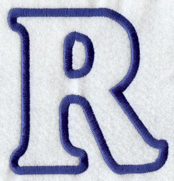 modern letter r applique 5 inch