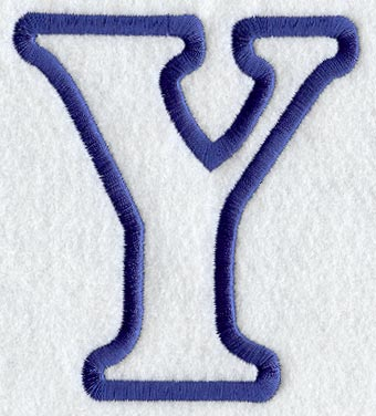 Machine embroidery designs at embroidery library embroidery library modern letter y applique 5 inch altavistaventures Image collections